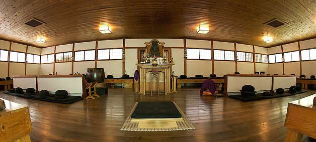 A meditation hall, or Zendo, at the Zen monastery. Photo: Florian Brody