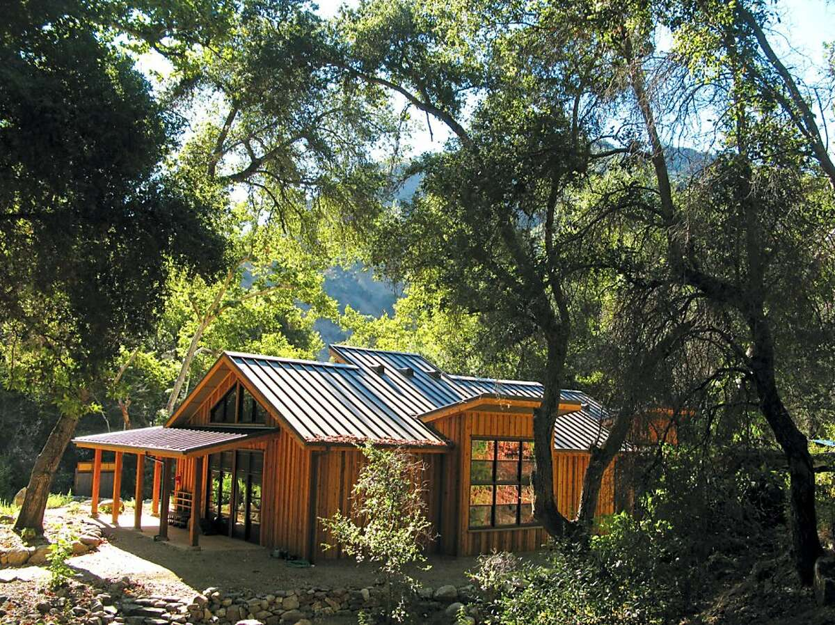 The new Japanese-style retreat center replaces a tent yurt. The Retreat Hall offers guests a serene indoor space to meditate and practice yoga, among other mindful acts.