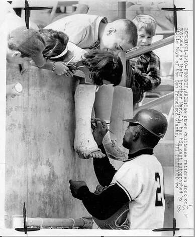 Willie Mays and the Giants trained at Phoenix Municipal in the 1960s. Photo: Upi