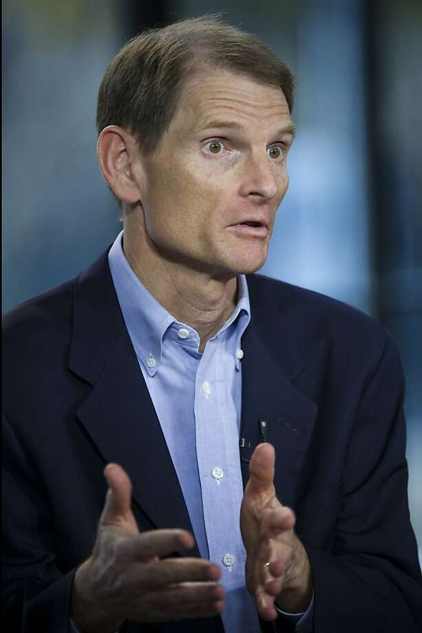 "Joseph ""Joe"" Kennedy, chief executive officer of Pandora Media Inc., speaks during a Bloomberg West television interview in San Francisco, California, U.S., on Wednesday, Feb. 27, 2013. Photo: David Paul Morris, Bloomberg"