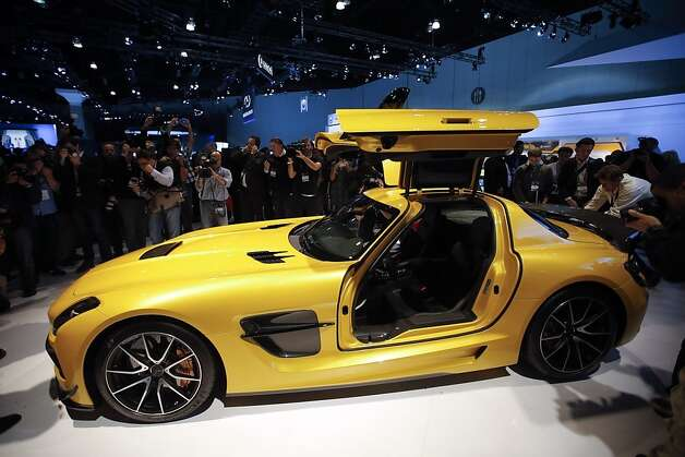 The Mercedes-Benz SLS AMG GT is unveiled at the LA Auto Show in Los Angeles, Wednesday, Nov. 28, 2012. The annual Los Angeles Auto Show opened to the media Wednesday at the Los Angeles Convention Center. The show opens to the public on Friday, November 30.