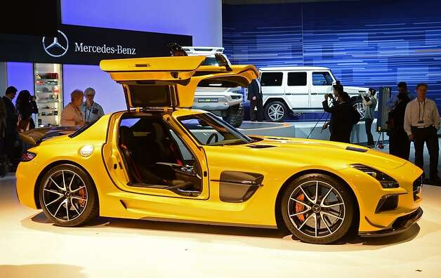 The Mercedes-Benz SLS AMG GT is unveiled at the Los Angeles Auto show in Los Angeles, California on media preview day, November 28, 2012. \The LA Auto Show will open to the public on November 30 and runs through December 9.