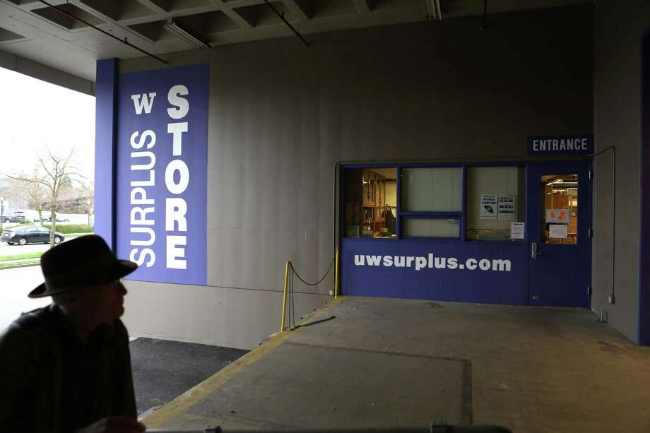 The entryway on 25th Avenue NE is shown at the University of Washington Surplus Store on Tuesday, March 5, 2013. The store sells items no longer being used by the university, often at rock bottom prices. Photo: JOSHUA TRUJILLO / SEATTLEPI.COM