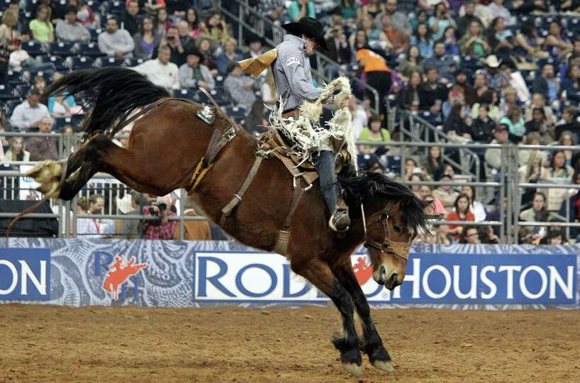 Sterling Crawley competes in Saddle Bronc Riding during the BP Super Series III Championship at Reli