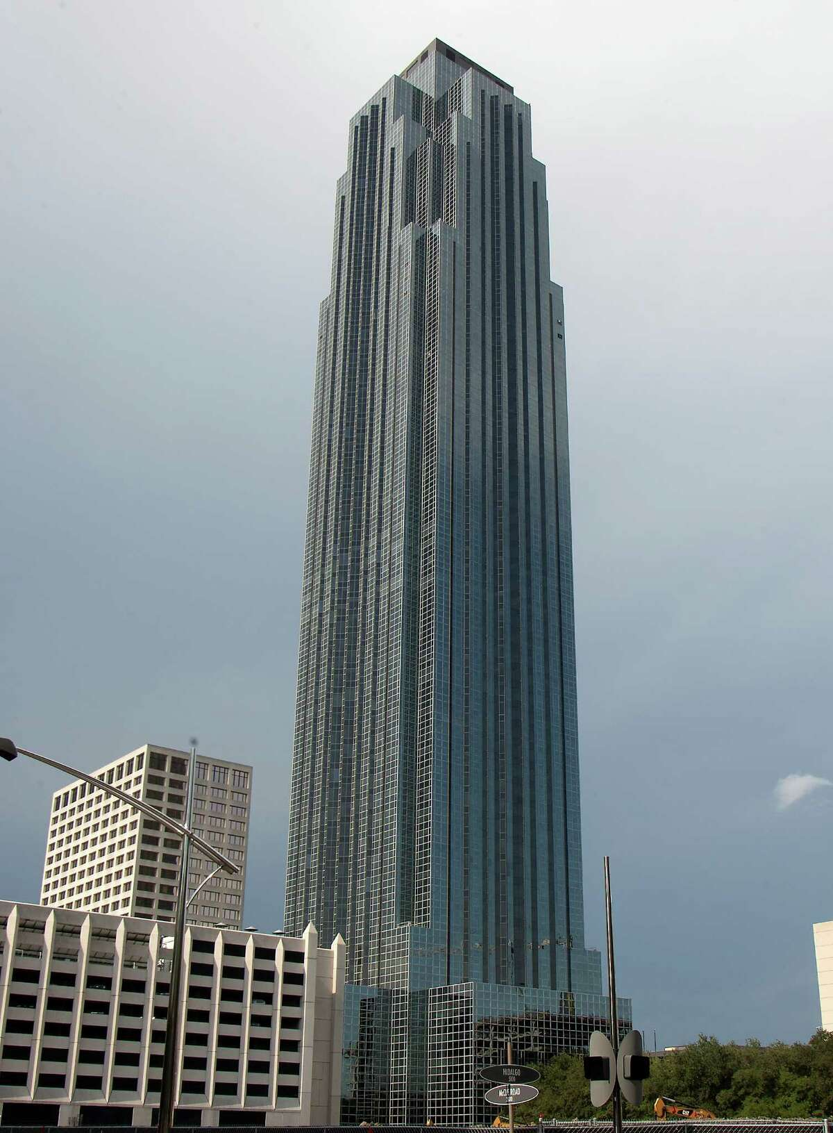 The Williams Tower is 909 feet tall and was built in 1983. It's more than 95 percent leased.
