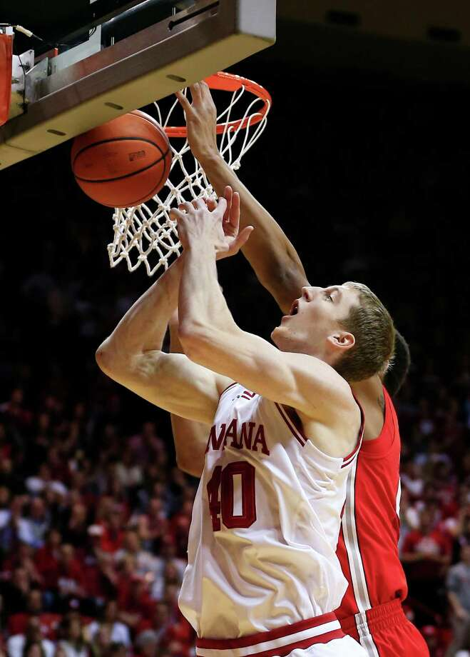 Indiana's Cody Zeller (40) goes up to grab a rebound during the first half of an NCAA college basketball game against Ohio State, Tuesday, March 5, 2013, in Bloomington, Ind. (AP Photo/Darron Cummings) Photo: Darron Cummings