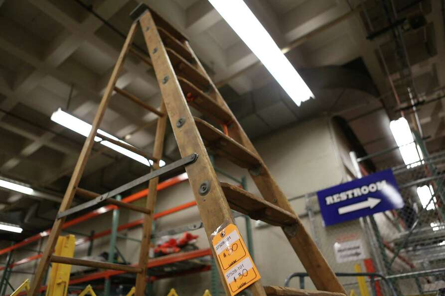 A large ladder sells for $30 at the University of Washington Surplus Store on Tuesday, March 5, 2013