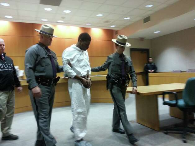 Eric L. Green is arraigned in Colonie Town Court on Tuesday, March 5, 2013. Dennis Yusko / Times Union