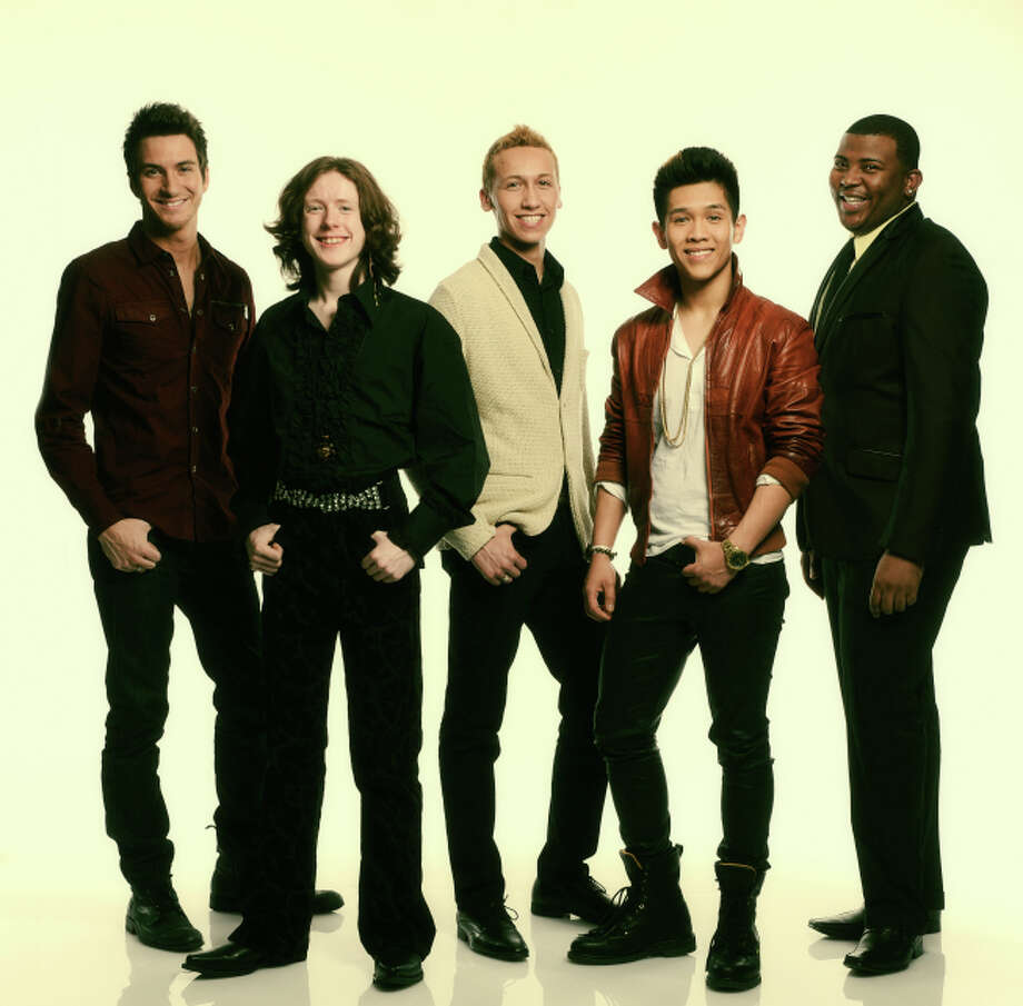 AMERICAN IDOL: L-R: Paul Jolley, Charlie Askew, Devin Velez, Elijah Liu and Curtis Finch, Jr.  Copyright: 2013 Fox Broadcasting Co. CR: Michael Becker / FOX.