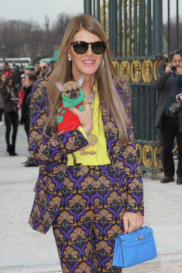 Totally dizzying: Anna Dello Russo arrives to attend the 'Valentino' Fall/Winter 2013 Ready-to-Wear show as part of Paris Fashion Week. Photo: Marc Piasecki, Getty Images / 2013 Marc Piasecki