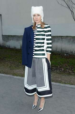 Totally ready-to-wear: Olga Sorokina arrives to attend the Celine Fall/Winter 2013 Ready-to-Wear show as part of Paris Fashion Week. Photo: Venturelli, Getty Images / 2013 Venturelli