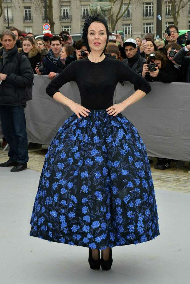 Totally practical: Ulyana Sergeenko attends the Christian Dior show in Paris. Photo: Foc Kan, Getty Images / 2013 Foc Kan
