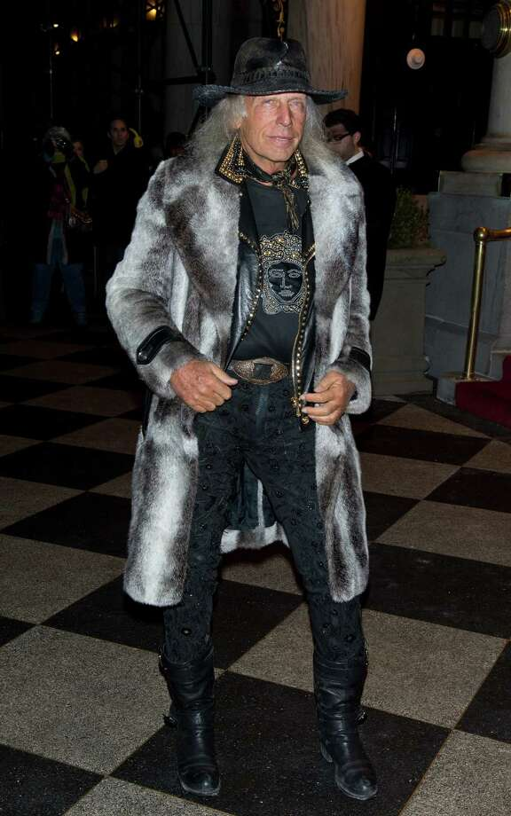 Totally bad-ass: James Goldstein arrives at the Zac Posen Fall 2013 Mercedes-Benz Fashion Show at The Plaza Hotel in New York. Photo: Gilbert Carrasquillo, Getty Images / 2013 Gilbert Carrasquillo