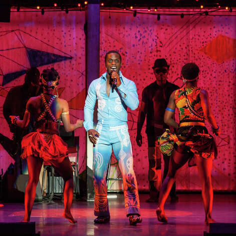 "Adesola Osakalumi in ""Fela"" (Sharen Bradford) Photo: Sharen Bradford / Copyright: Sharen Bradford 2012"