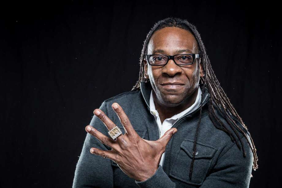 Booker T, a Houston native, professional WCW, WWF, and WWE wrestler and currently the GM of SmackDown recently released a book. Photo: Michael Paulsen, Houston Chronicle / © 2013 Houston Chronicle
