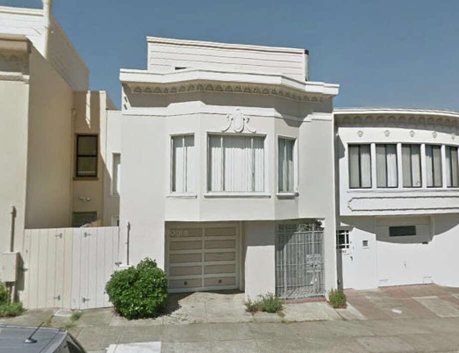 Google Maps of 1767 Eight Ave., San Francisco, CA Photo: SF Gate / Douglas Zimmerman