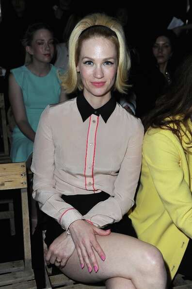 January Jones  attends the Miu Miu Fall/Winter 2013 Ready-to-Wear show as part of Paris Fashion Week