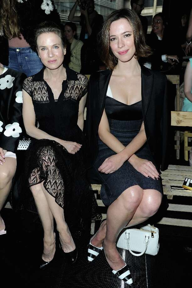 Renee Zellweger and Rebecca Hall attend the Miu Miu Fall/Winter 2013 Ready-to-Wear show as part of Paris Fashion Week on March 6, 2013 in Paris, France. Photo: Pascal Le Segretain, Getty Images / 2013 Getty Images