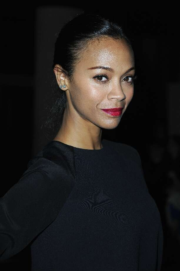 Zoe Saldana attends the Miu Miu Fall/Winter 2013 Ready-to-Wear show as part of Paris Fashion Week on March 6, 2013 in Paris, France. Photo: Pascal Le Segretain, Getty Images / 2013 Getty Images