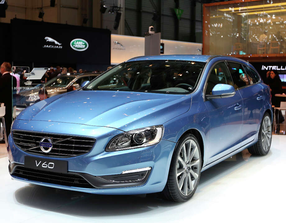 A Volvo V60 automobile, produced by Volvo Cars and owned by Zhejiang Geely Holding Group Co., is seen on display on the first day of the 83rd Geneva International Motor Show in Geneva, Switzerland, on Tuesday, March 5, 2013. This year's show opens to the public on Mar. 7, and is set to feature more than 100 product premiers from the world's automobile manufacturers. Photographer: Chris Ratcliffe/Bloomberg Photo: Chris Ratcliffe, Bloomberg / Copyright 2013 Bloomberg Finance LP, All Rights Reserved.
