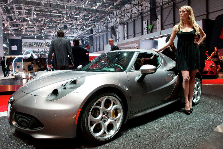 The new Alfa Romeo 4C is shown during the press day at the 83rd Geneva International Motor Show in Geneva, Switzerland, Tuesday, March 5, 2013. The Motor Show will open its gates to the public from 7th to 17th March presenting more than 260 exhibitors and more than 130 world and European premieres. (AP Photo/Keystone, Sandro Campardo) Photo: SANDRO CAMPARDO, Associated Press / Keystone