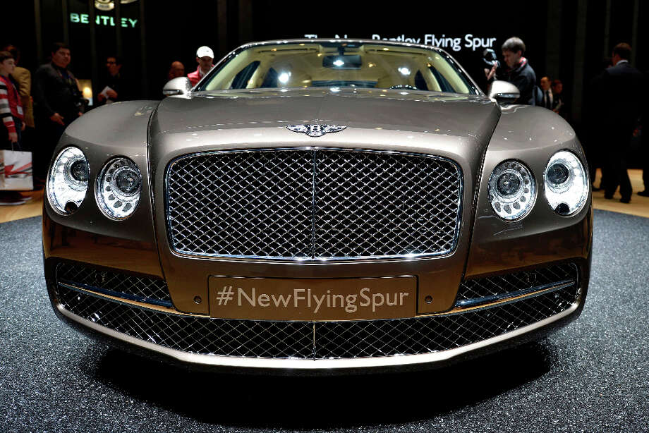 The new Bentley Motors Flying Spur is shown during the press day at the 83rd Geneva International Motor Show in Geneva, Switzerland, Tuesday, March 5, 2013. The Motor Show will open its gates to the public from 7th to 17th March presenting more than 260 exhibitors and more than 130 world and European premieres. (AP Photo/Keystone, Martial Trezzini) Photo: Martial Trezzini, Associated Press / Keystone