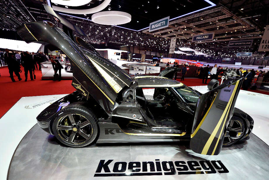 The new Koenigsegg Agera S - Hundra is shown during the press day at the 83rd Geneva International Motor Show in Geneva, Switzerland, Tuesday, March 5, 2013. The Motor Show will open its gates to the public from 7th to 17th March presenting more than 260 exhibitors and more than 130 world and European premieres. (AP Photo/Keystone, Martial Trezzini) Photo: MARTIAL TREZZINI, Associated Press / Keystone