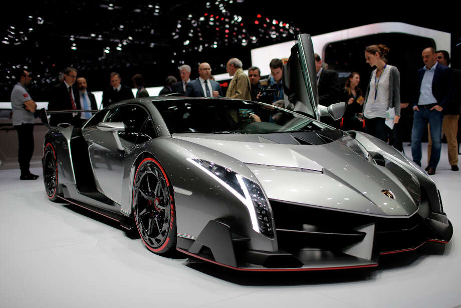 The new Lamborghini Veneno is seen during the first media day of the 83rd Geneva International Motor Show, Switzerland, Tuesday, March 5, 2013. The Motor Show will open its gates to the public from March 7 to 17.  (AP Photo/Laurent Cipriani) Photo: Laurent Cipriani, Associated Press / AP