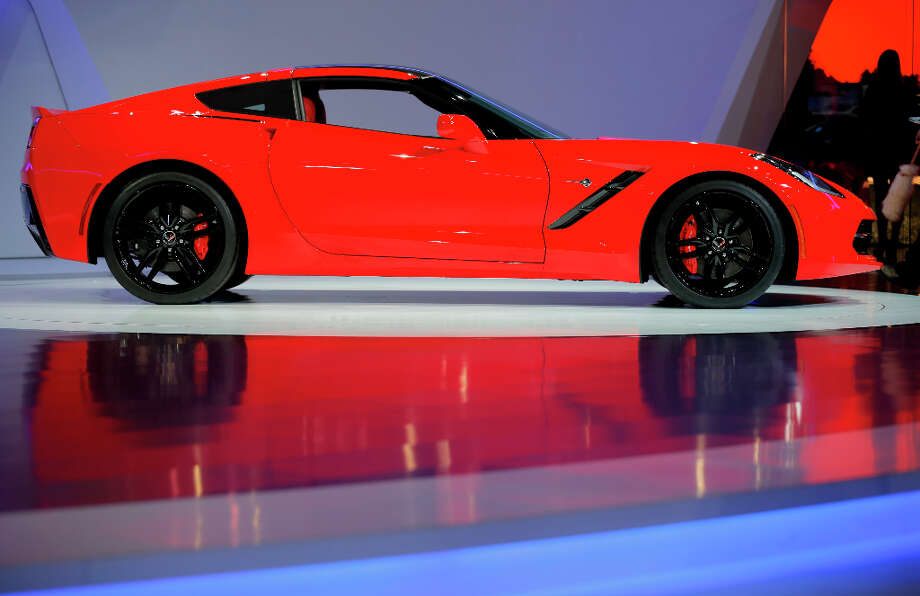A Chevrolet Corvette Stingray automobile, produced by General Motors Co. (GM), is seen on display on the first day of the 83rd Geneva International Motor Show in Geneva, Switzerland, on Tuesday, March 5, 2013. This year's show opens to the public on Mar. 7, and is set to feature more than 100 product premiers from the world's automobile manufacturers. Photographer: Valentin Flauraud/Bloomberg Photo: Valentin Flauraud, Bloomberg / Copyright 2013 Bloomberg Finance LP, All Rights Reserved.