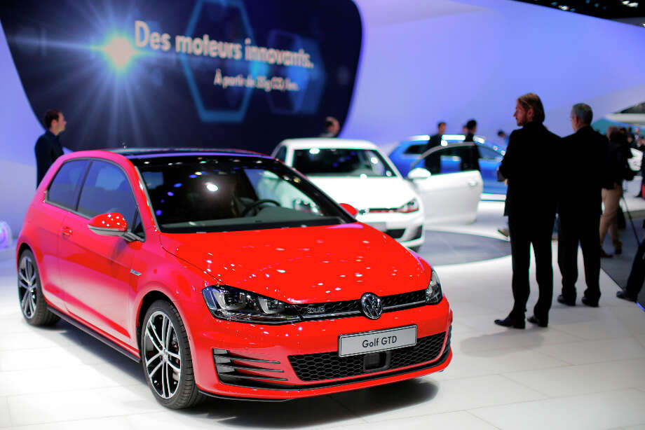 A Volkswagen Golf GTD automobile, produced by Volkswagen AG (VW), is seen on display on the first day of the 83rd Geneva International Motor Show in Geneva, Switzerland, on Tuesday, March 5, 2013. This year's show opens to the public on Mar. 7, and is set to feature more than 100 product premiers from the world's automobile manufacturers. Photographer: Valentin Flauraud/Bloomberg Photo: Valentin Flauraud, Bloomberg / Copyright 2013 Bloomberg Finance LP, All Rights Reserved.