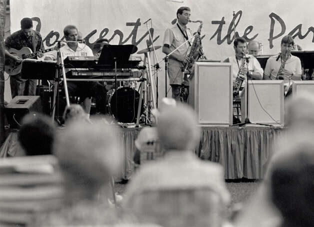 Jimmy Simmons leads during a concert at Rogers Park in 1992. Enterprise file photo