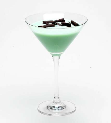 Mint ChocoChata Martini for St. Patrick's Day.