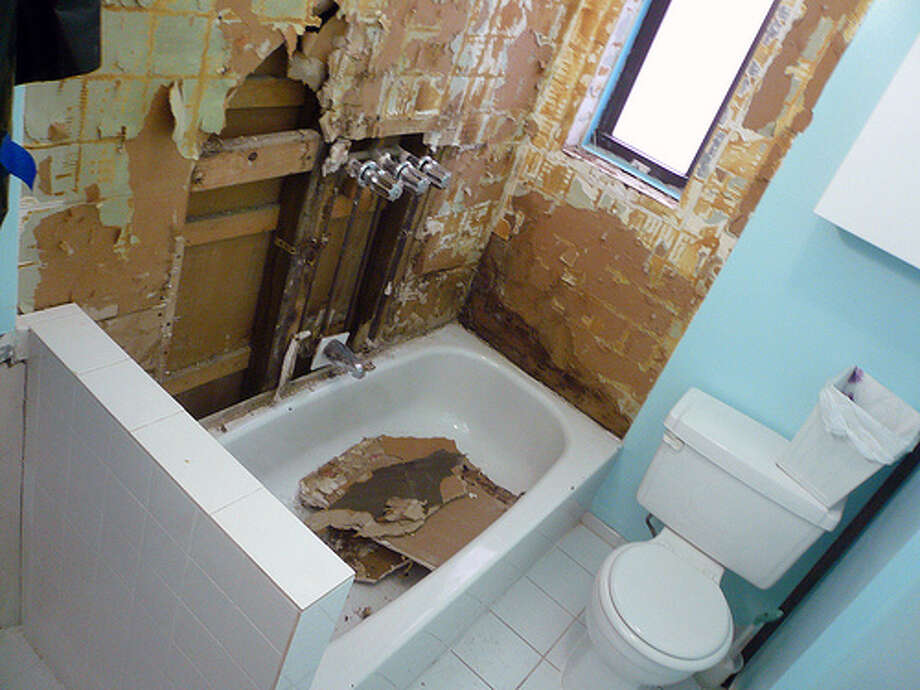 Poor remodeling jobs: You tried to save money by remodeling the bathroom by yourself, but you only did a so-so job. Little imperfections can devalue your home quickly. (Photo: mandiberg, Flickr)