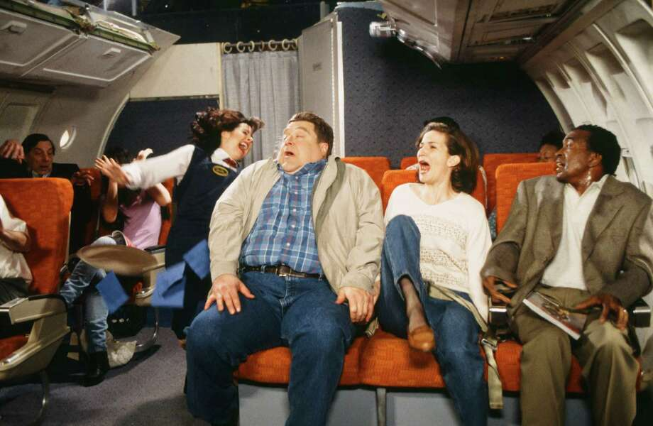 John Goodman -- Walter Sobchak -- pictured with Ana Gasteyer and Tim Meadows during a skit on Saturday Night Live on Feb. 7, 1998. Photo: NBC, . / 2012 NBCUniversal Media, LLC