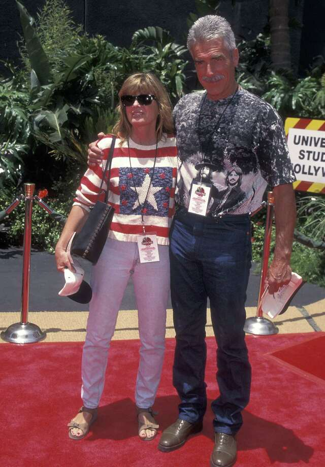 Sam Elliott – The Stranger -- pictured with actress Katharine Ross on June 15, 1996 at Jurassic Park: The Ride, Universal Studios in Universal City, Calif. Photo: Ron Galella, Ltd., . / 1996 Ron Galella, Ltd.