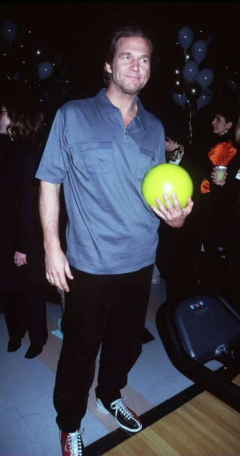 "Jeff Bridges – Jeff ""The Dude"" Lebowski -- pictured in 1998 during the film's post-premiere bowling tournament and dinner. Photo: Robin Platzer/Twin Images, . / Getty Images North America"