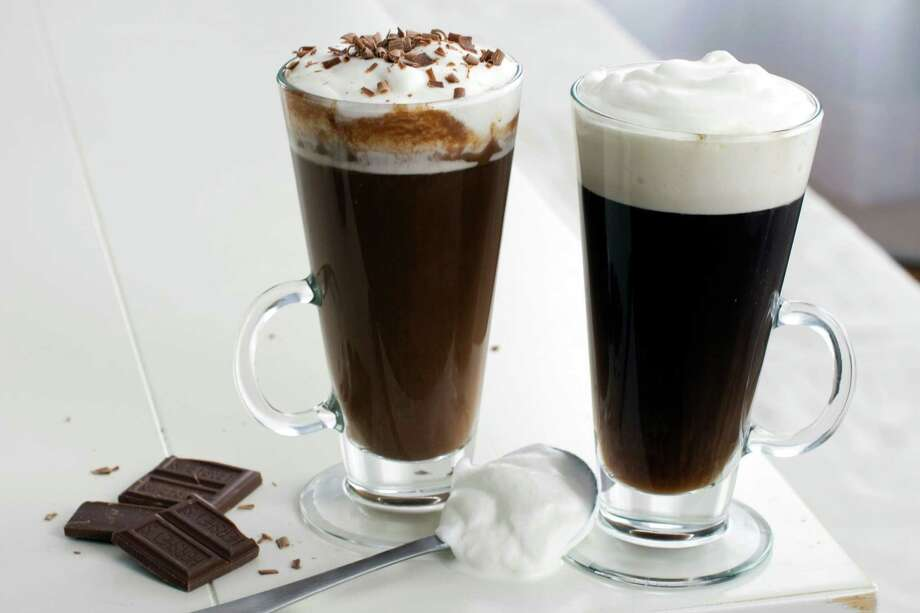 In this image taken on February 18, 2013, traditional Irish coffee is served in glass mugs as shown in Concord, N.H. (AP Photo/Matthew Mead) Photo: MATTHEW MEAD