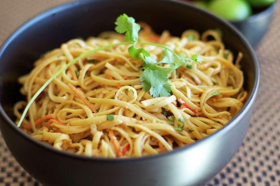 Peanut Noodle Salad/apassionateplate.com