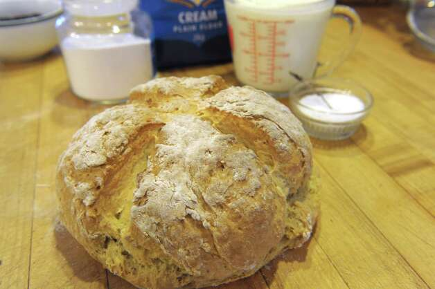 A view of traditional Irish soda bread just out of the oven at the home of Harold Qualters, a member of the board of advisors for the Irish American Heritage Museum, on Thursday, Feb. 28, 2013 in Latham, NY.  The Irish American Heritage Museum is holding a soda bread contest.  (Paul Buckowski / Times Union) Photo: Paul Buckowski