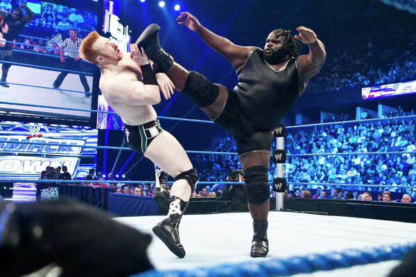 WWE wrestler Mark Henry. Photo provided by WWE, Inc.