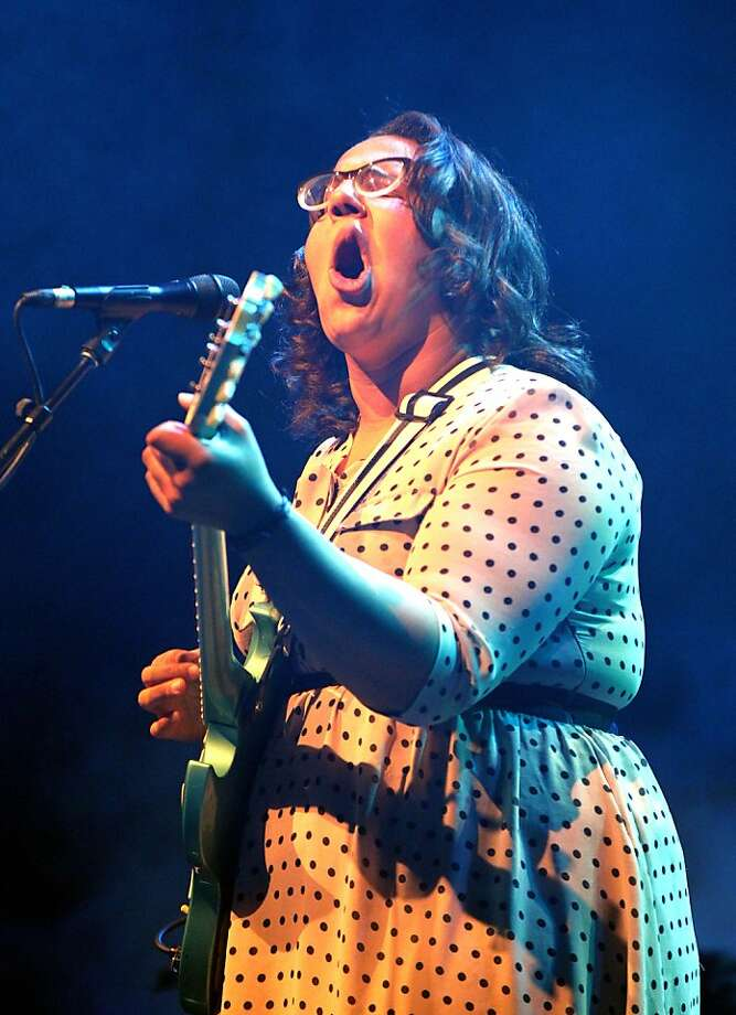 All eyes are on Brittany Howard, lead singer of Alabama Shakes, at the band's sold-out set at Oakland's Fox Theater. Photo: Lance Iversen, The Chronicle