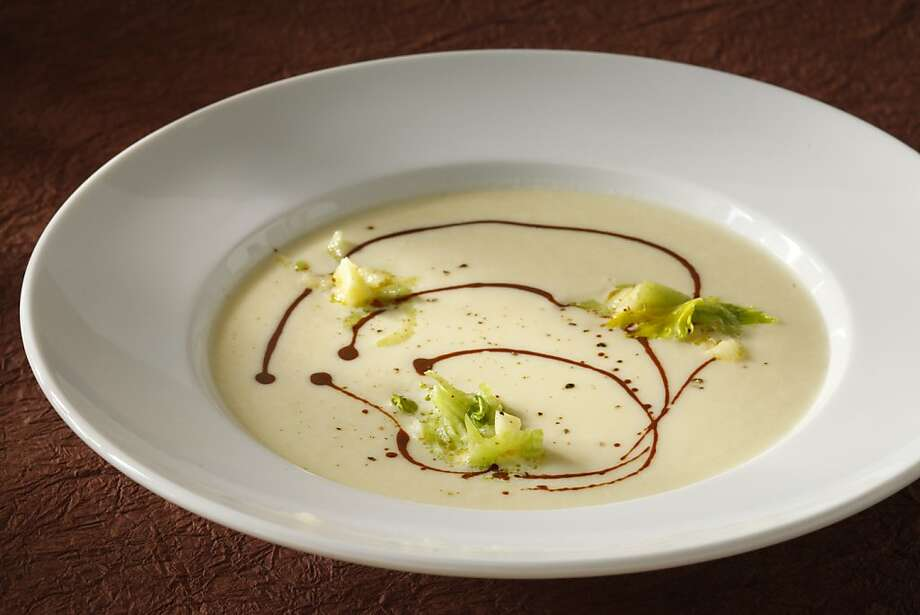 Celery Root Soup (Robin Song, Hog and Rocks) as seen in San Francisco, California on Wednesday, February 27, 2013. Food styled by Tara Duggan. Photo: Craig Lee, Special To The Chronicle