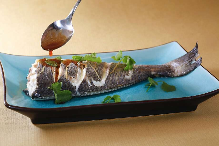 Steamed Fish with Asian Vinaigrette as seen in San Francisco, California, on Wednesday, December 5, 2012.  Food styled by Simon F. F. Young. Photo: Craig Lee, Special To The Chronicle