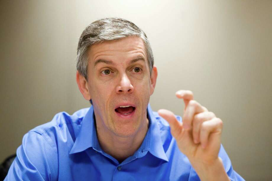 "The report by Education Secretary Arne Duncan that some teachers have already gotten ""pink slips"" was awarded Four Pinocchios by  Washington Post ""Fact Checker"" columnist Glenn Kessler. This roughly translates as ""not even remotely true."" Photo: Christopher Gregory, New York Times / NYTNS"