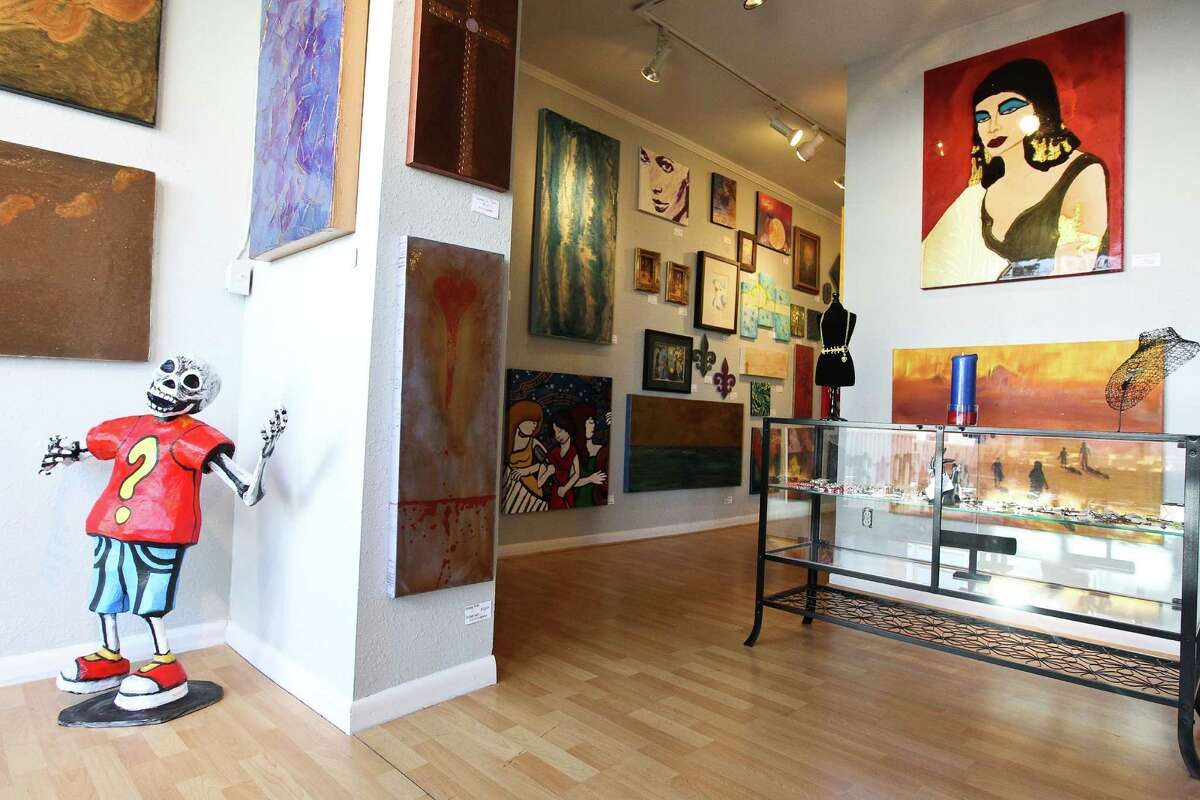 The Starving Artist gallery, opened by William Loyd and Nikki Araguz, features work from 70 artists.
