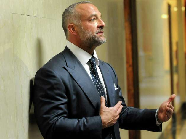 Lorenzo Fertitta, chairman and CEO of the Ultimate Fighting Championship, talks with the media on Wednesday, March 6, 2013, at the Capitol in Albany, N.Y. (Cindy Schultz / Times Union) Photo: Cindy Schultz / 10021464A