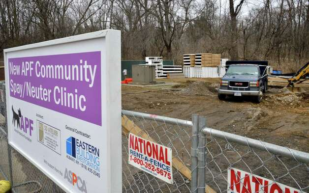 Construction has begun on the Animal Protective Foundation's new Community Spay/Neuter Clinic in Glenville Wednesday March 6, 2013.   (John Carl D'Annibale / Times Union) Photo: John Carl D'Annibale / 10021430A