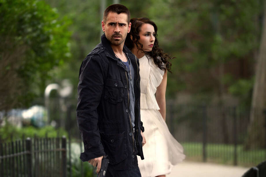 "The avenging Beatrice (Noomi Rapace) draws Victor (Colin Farrell) into her plot in ""Dead Man Down."" Photo: Film District"