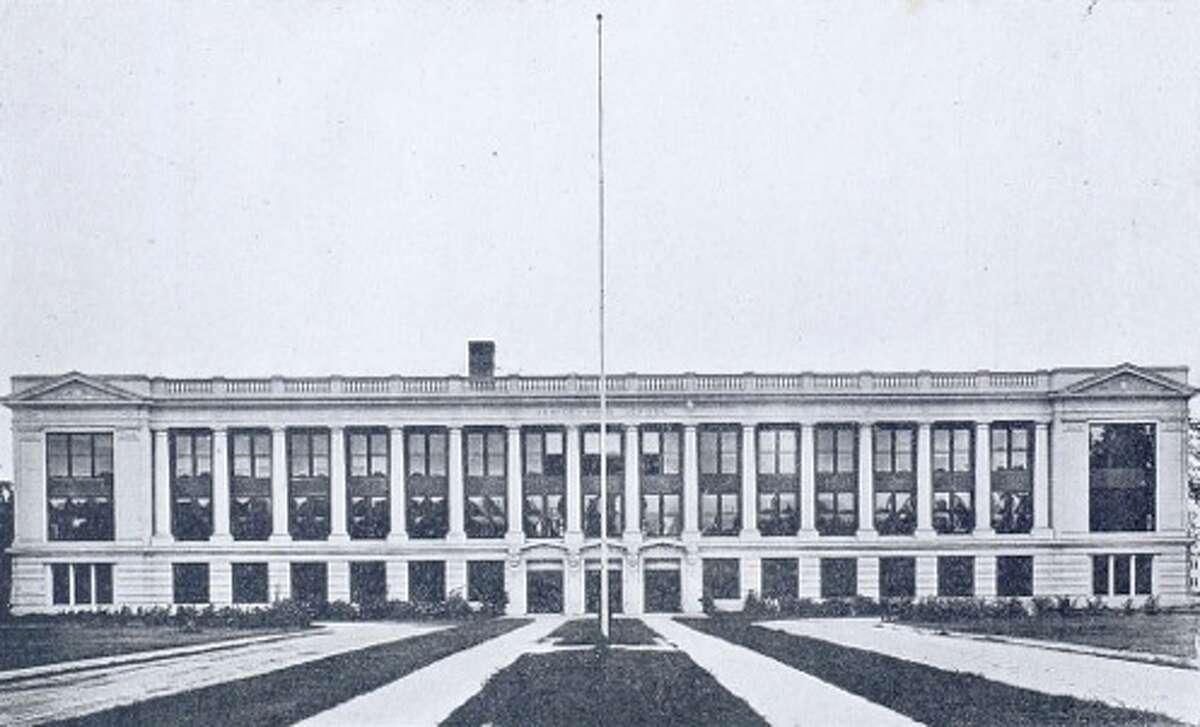 San Jacinto High School in a photo dated between 1917-1920