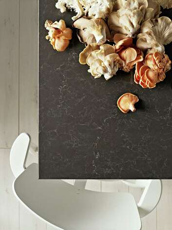 Quartz-composite counters offer the look and durability of natural stone but without the porosity and irregularities in patterns characteristic of natural materials. Photo: Courtesy Caesarstone
